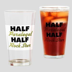 Half Paralegal Half Rock Star Drinking Glass