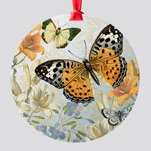 MODERN VINTAGE french butterfly Ornament