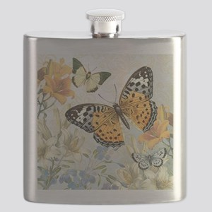 MODERN VINTAGE french butterfly Flask