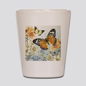 MODERN VINTAGE french butterfly Shot Glass