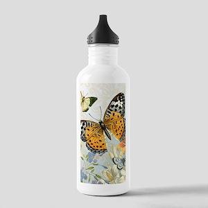 MODERN VINTAGE french butterfly Water Bottle