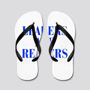 leaders-are-readers-BOD-BLUE Flip Flops