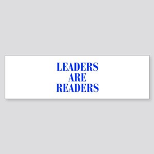 leaders-are-readers-BOD-BLUE Bumper Sticker