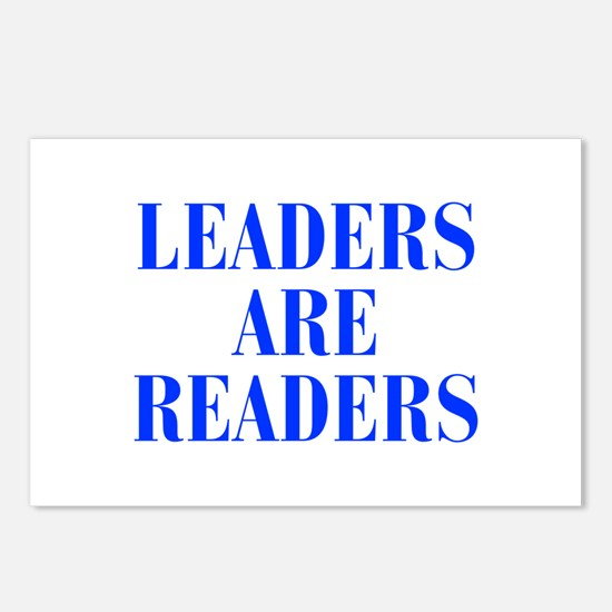 leaders-are-readers-BOD-BLUE Postcards (Package of