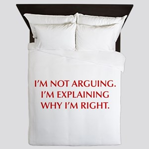 IM-NOT-ARGUING-OPT-RED Queen Duvet