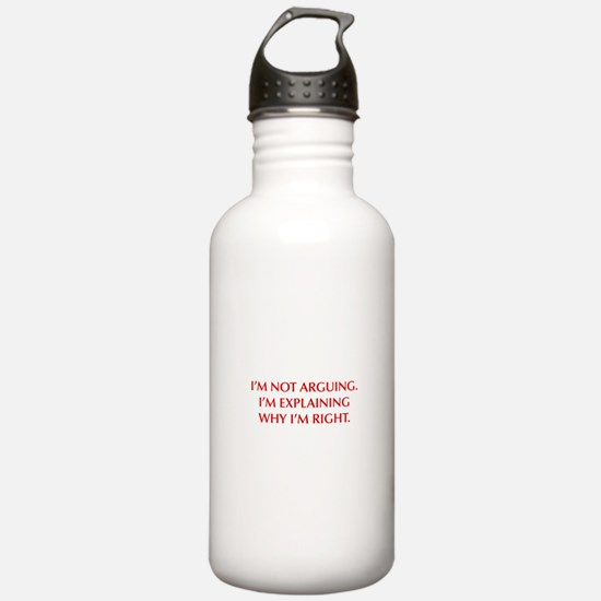 IM-NOT-ARGUING-OPT-RED Water Bottle