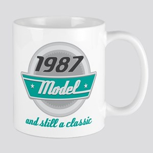 1987 Birthday Vintage Chrome Mug