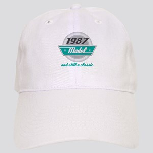 1987 Birthday Vintage Chrome Cap