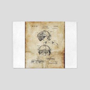 1940 Welders Goggles - Patent 5'x7'Area Rug