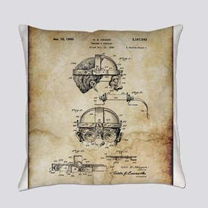 1940 Welders Goggles - Patent Everyday Pillow