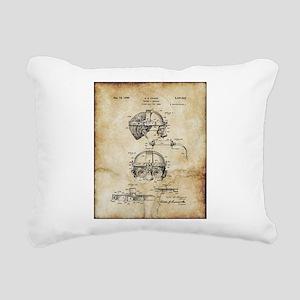 1940 Welders Goggles - P Rectangular Canvas Pillow