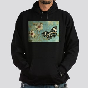 Modern vintage french butterfly postcard Hoodie