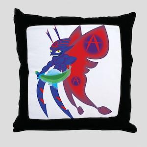 Anarchy Imp Throw Pillow