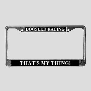 Dogsled Racing License Plate Frame
