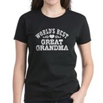 World's Best Great Grandma Women's Dark T-Shirt