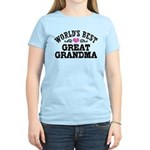 World's Best Great Grandma Women's Light T-Shirt