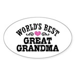 World's Best Great Grandma Sticker (Oval)