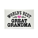 World's Best Great Grandma Rectangle Magnet