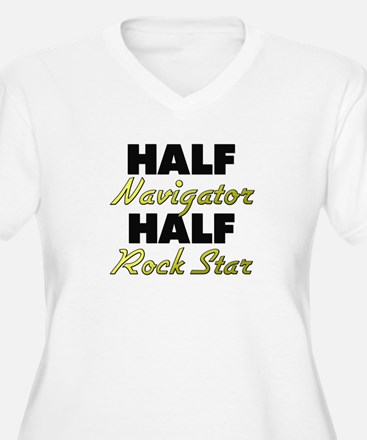 Half Navigator Half Rock Star Plus Size T-Shirt