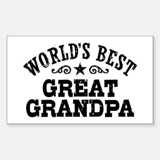World's Best Great Grandpa Sticker (Rectangle)