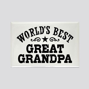 World's Best Great Grandpa Rectangle Magnet