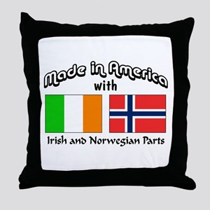 Irish & Norwegian Parts Throw Pillow