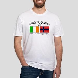 Irish & Norwegian Parts Fitted T-Shirt