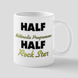 Half Multimedia Programmer Half Rock Star Mugs