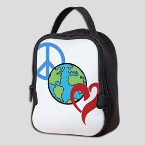 Peace & Love Neoprene Lunch Bag