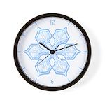 Flurry Snowflake XIX Wall Clock