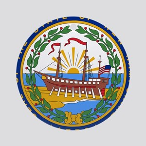New Hampshire Ornament (Round)