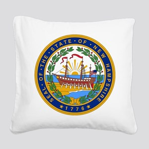 New Hampshire Square Canvas Pillow