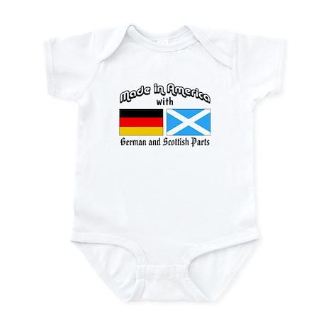 German & Scottish Parts Infant Bodysuit
