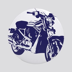Motorcycle - Biker Ornament (Round)