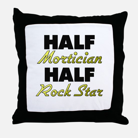Half Mortician Half Rock Star Throw Pillow