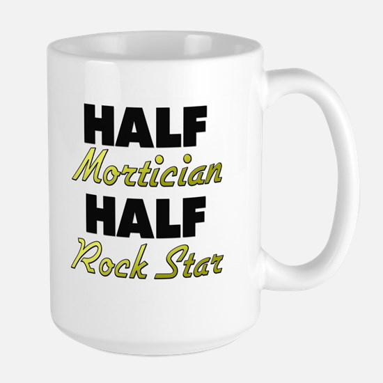 Half Mortician Half Rock Star Mugs
