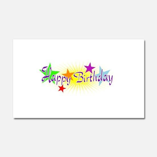 Happy Birthday with Stars Car Magnet 20 x 12