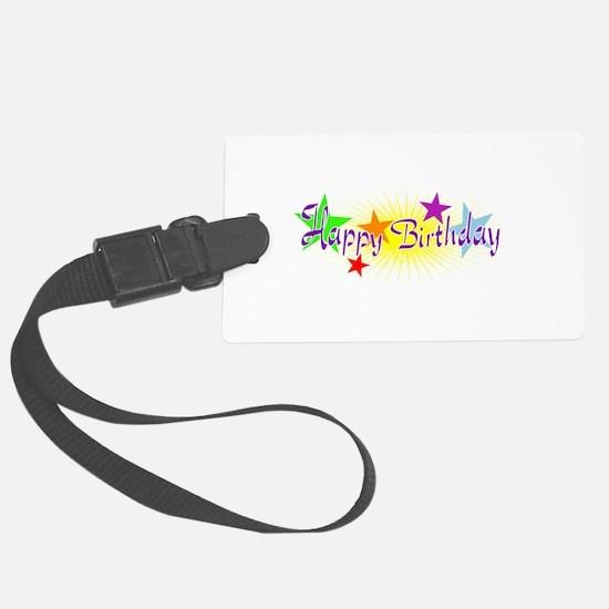 Happy Birthday with Stars Luggage Tag