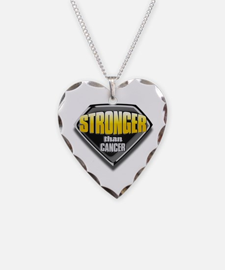 Stronger than cancer Necklace Heart Charm