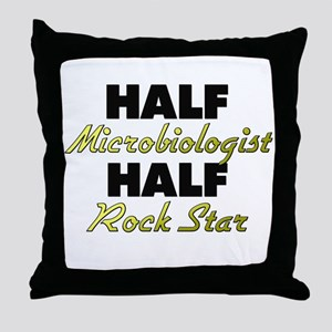 Half Microbiologist Half Rock Star Throw Pillow