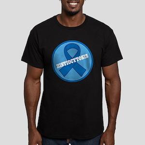 Histiocytosis Blue Ribbon Men's Fitted T-Shirt (da