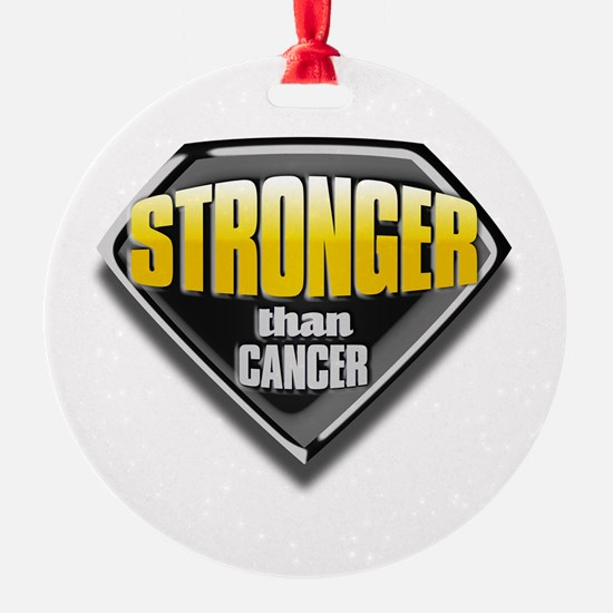 Stronger than cancer Round Ornament