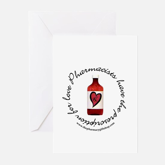 prescription for love pharm Greeting Cards (Packag