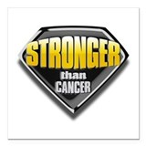Fighting cancer Square Car Magnets