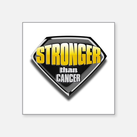 "Stronger than cancer Square Sticker 3"" x 3&qu"