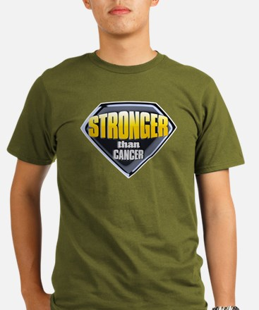 Stronger than cancer Organic Men's T-Shirt (dark)