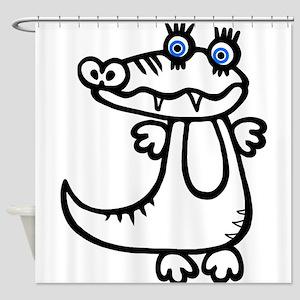 Cute Crocodile Shower Curtain