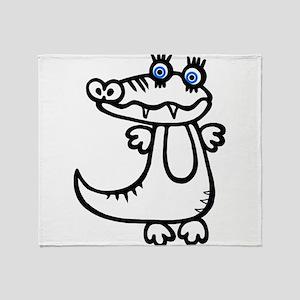 Cute Crocodile Throw Blanket