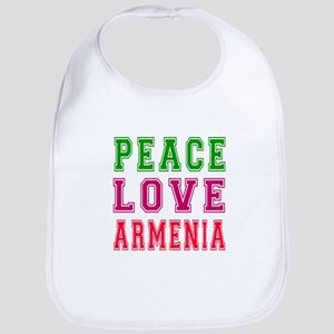 Peace Love Armenia Bib