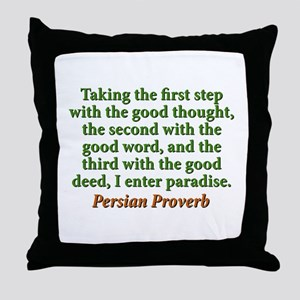 Taking The First Step Throw Pillow